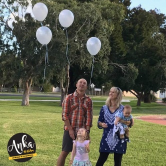 Family releasing the Balloons